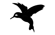 hummingbird Free Dxf File for CNC