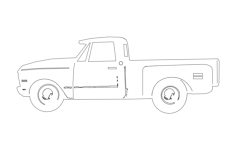 69 chev truck Free Dxf File for CNC