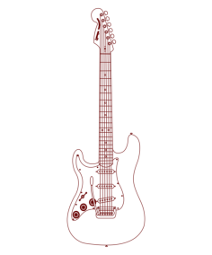 bass guitar Free Dxf File for CNC