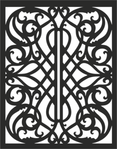 panel pattern Free Dxf File for CNC