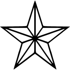 star Free Dxf File for CNC
