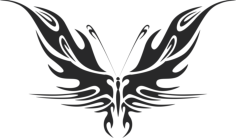 tribal butterfly vector art 44 Free Dxf File for CNC