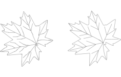 maple Free Dxf File for CNC