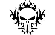 the punisher tribal 24×24 Free Dxf File for CNC