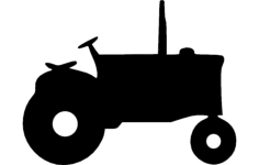 tractor silhouette Free Dxf File for CNC