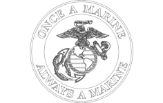 once a marine always a marine Free Dxf File for CNC