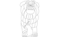 palmyra lion of al-lat Free Dxf File for CNC