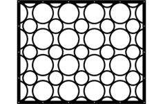 screen pattern Free Dxf File for CNC