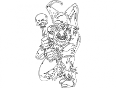 clown 014 full Free Dxf File for CNC
