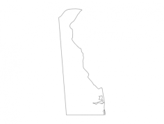 delaware state map (de) Free Dxf File for CNC
