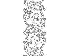 free hand embroidery pattern scroll design Free Dxf File for CNC