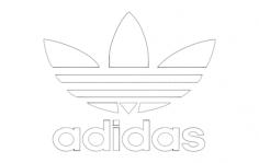 adidas logo Free Dxf File for CNC