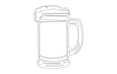 beer mug Free Dxf File for CNC