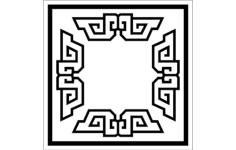 frame design 6 Free Dxf File for CNC