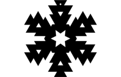 snowflake design 6 Free Dxf File for CNC
