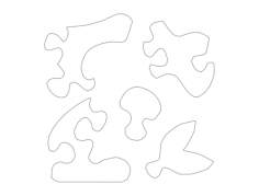 jigsaw puzzle 7779 Free Dxf File for CNC