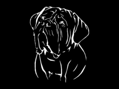 french mastiff Free Dxf File for CNC