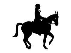 equestrian Free Dxf File for CNC