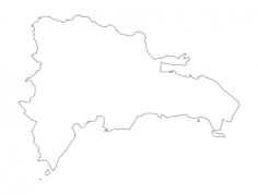 dr dominican republic map Free Dxf File for CNC