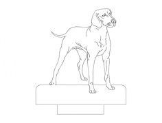 dog standing Free Dxf File for CNC