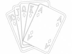 cards 1 Free Dxf File for CNC