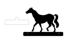 horse walking plate Free Dxf File for CNC