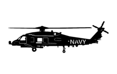 navy helicopter Free Dxf File for CNC