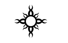 tribal sun Free Dxf File for CNC