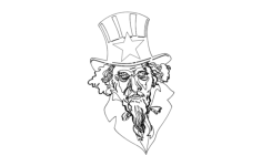 uncle sam Free Dxf File for CNC