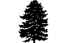 trees Free Dxf File for CNC