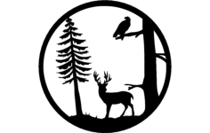 deer tree Free Dxf File for CNC
