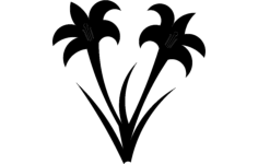 lillies Free Dxf File for CNC
