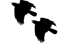crow flying Free Dxf File for CNC