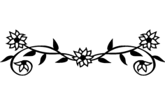 flowers Free Dxf File for CNC