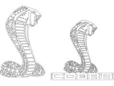 cobra logo Free Dxf File for CNC