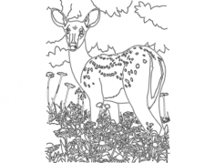 bambi Free Dxf File for CNC