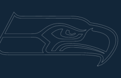 sea hawk Free Dxf File for CNC