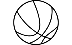 basketball Free Dxf File for CNC