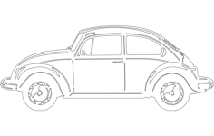 vw bug Free Dxf File for CNC