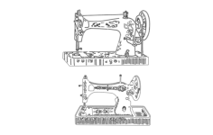 vintage sewing machine Free Dxf File for CNC