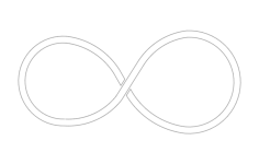 infinity symbol Free Dxf File for CNC