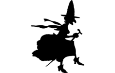 witch Free Dxf File for CNC