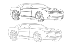 car 6 Free Dxf File for CNC