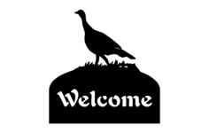 welcome sign turkey Free Dxf File for CNC