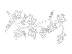 grape vine Free Dxf File for CNC