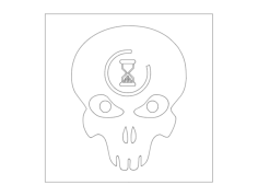 halo-3-lag-skull Free Dxf File for CNC