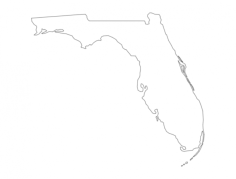 florida state map (fl) Free Dxf File for CNC