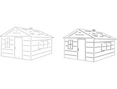 cabinsFree Dxf File for CNC