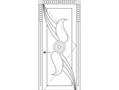 main single door carving design Free Dxf File for CNC