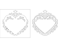 heart frame 10 Free Dxf File for CNC